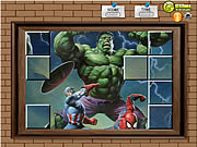 Click to Play Photo Mess - Hulk With Friends
