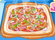 Click to Play Hot and Yummy Squared Pizza
