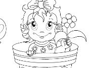 Click to Play Lovely Flower Baby Coloring